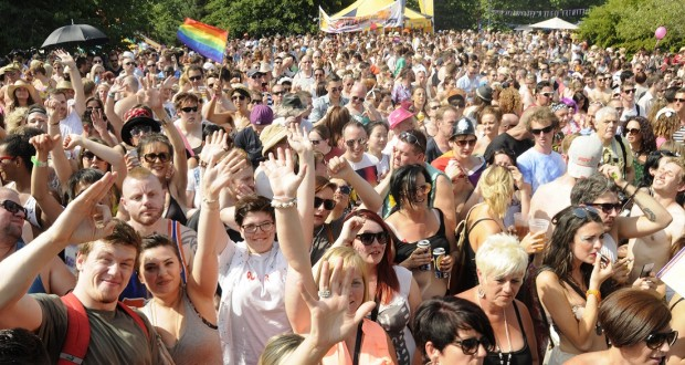 Gay Pride. Castle Park.by Bristol News and Media