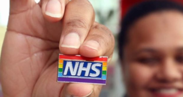 nhs rainbow badge