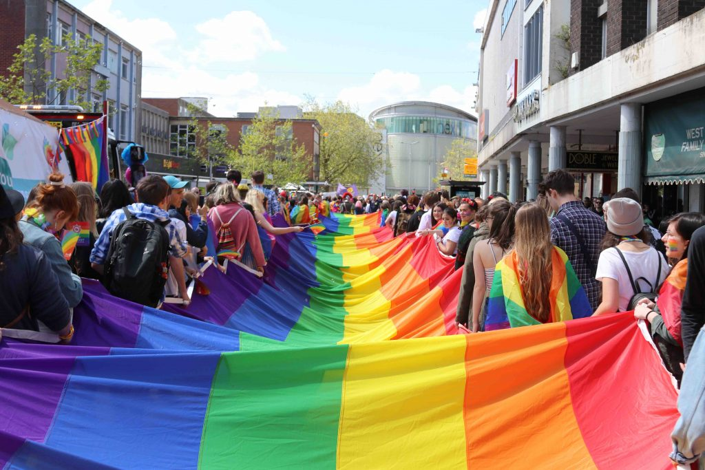 A greener rainbow for Exeter Pride on May 2