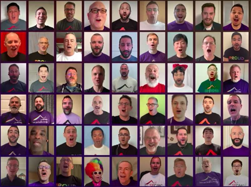 Gay choirs unite online to serenade health workers with moving tributes