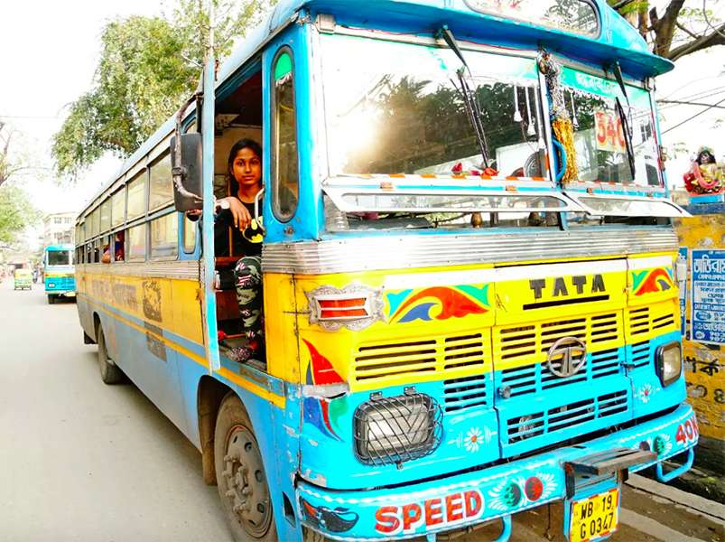 Trans commuters in India get special seats on Kolkata's public busses