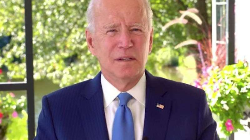 Joe Biden slams Donald Trump's record on LGBTI rights