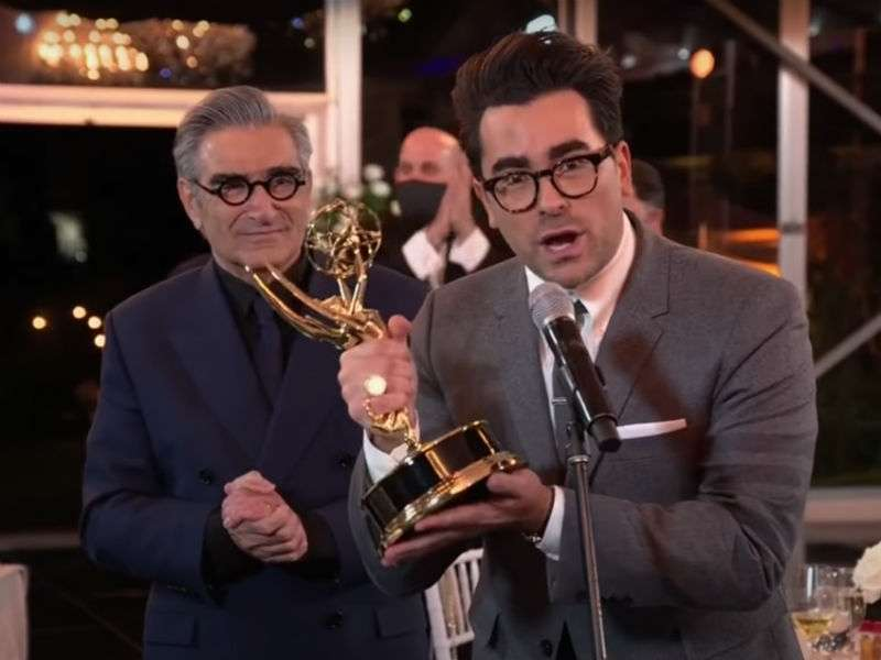 Schitt's Creek and RuPaul celebrate historic Emmy wins