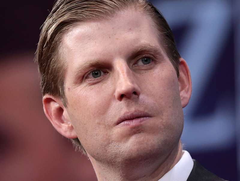 Donald Trump's son Eric claims LGBT+ people love his dad and accidentally comes out